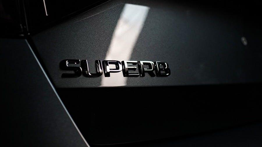 ŠKODA offers first impression of its upgraded SUPERB model range