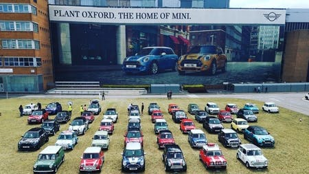 MINI Brand Manager takes part in the MINI 60 Years Anniversary celebrations.