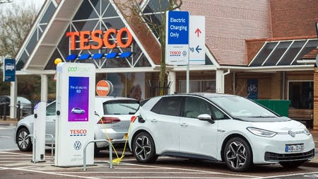 Volkswagen and Tesco Free EV Charging Network Amps Up