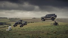 NEW LAND ROVER DEFENDER. IT DOES ALL ITS OWN STUNTS