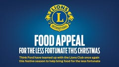 Think Ford supports the Lions Club International in their Food Appeal this Christmas