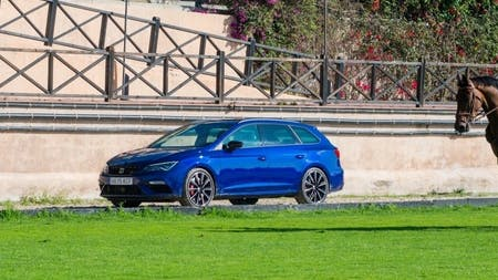 SEAT LEON CUPRA AND SHOW JUMPING HORSE CONTEST AGILITY CHALLENGE