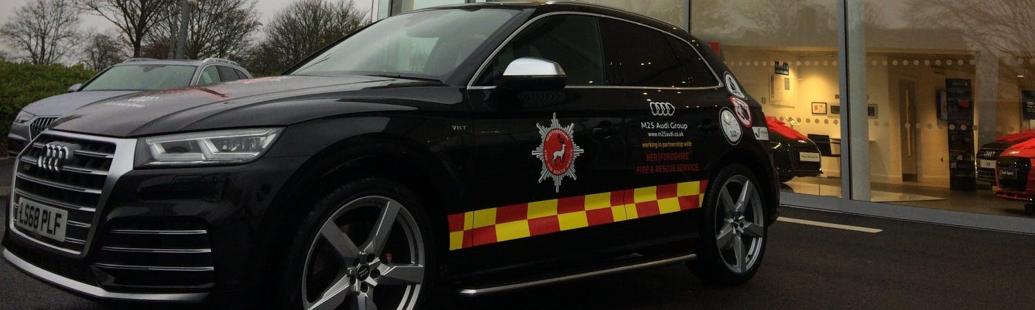 M25 Audi delivers new vehicle for Road Safety partnership