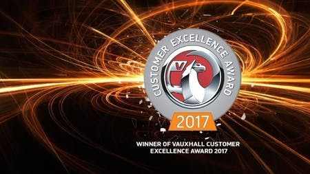 Proud Winners of the Vauxhall Customer Service Award 2017