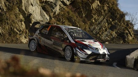 Tänak and Latvala Score Double Podium for Toyota on Rallye Monte-Carlo