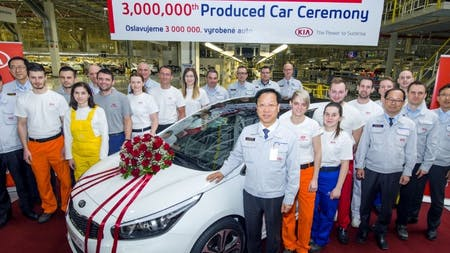 KIA Produces Three Millionth Car In Europe