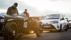 Toyota's Supercharged Hot Hatch Takes Silverstone Circuit With Eclectic Group of Much-Loved Cars