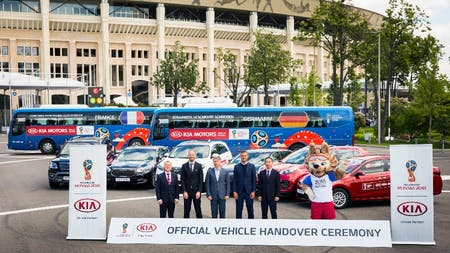 KIA Gears Up for 2018 FIFA World Cup Russia™ with Vehicle Handover