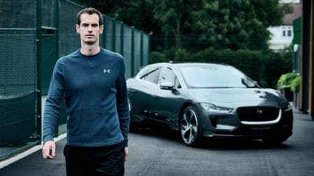 Andy Murray Goes Electric With I-PACE