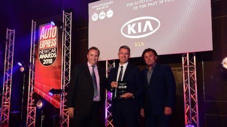 KIA Named Company of the Last 30 Years at Auto Express New Car Awards 2018
