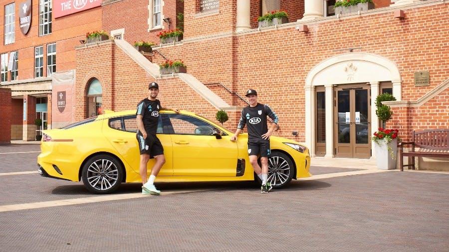 Surrey Men's Team Captain Cut a Dash in New KIA Stingers