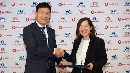 KIA Enter Strategic Partnership with Vodafone