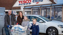 Volkswagen and Tesco partner for EV charging revolution, powered by Pod Point