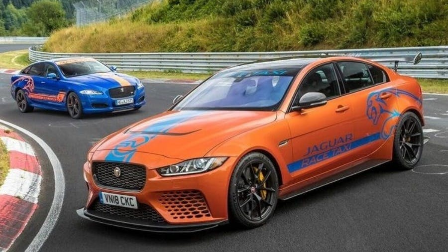 Taxi! Experience Jaguar XE SV Project 8 On The Nürburgring Nordschleife