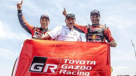 Victory for Toyota Gazoo Racing