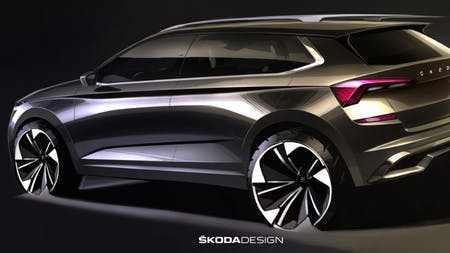 ŠKODA Releases First Sketches of KAMIQ