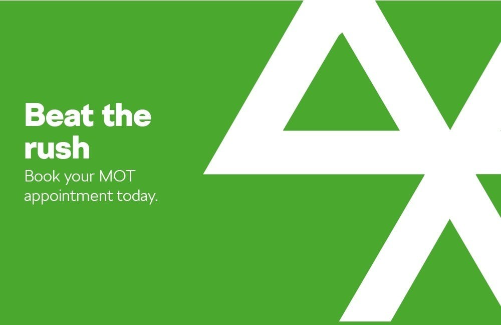 Beat the Rush and Book your MOT