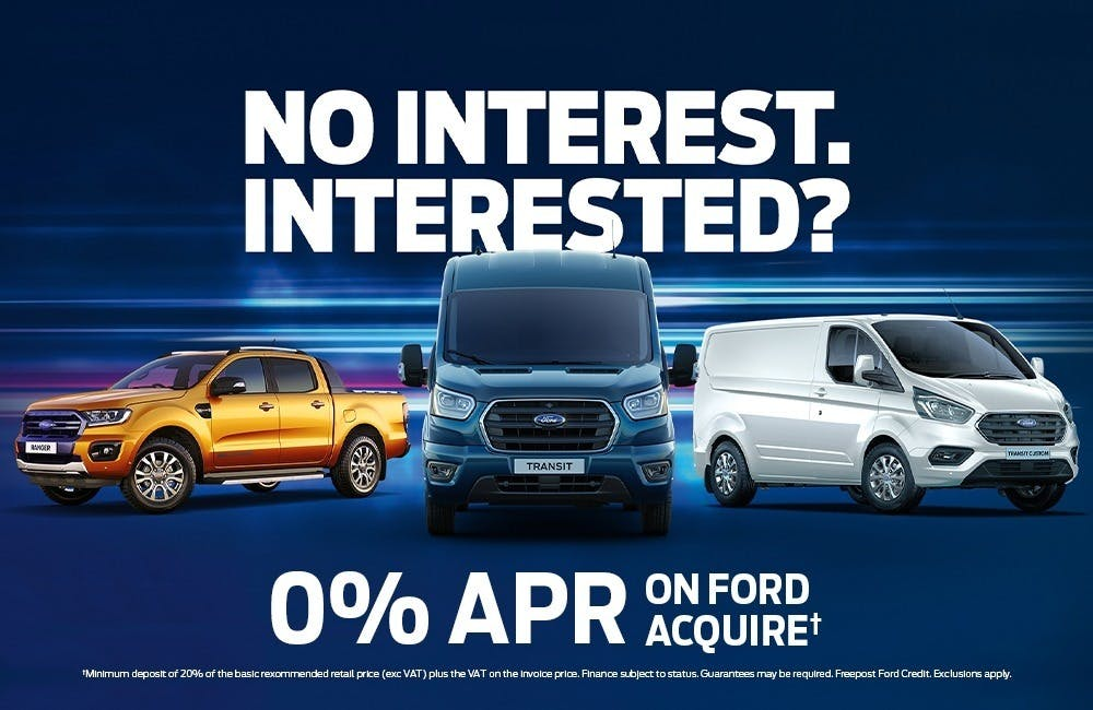 No Interest. Interested? - 0% APR on Ford Commercials